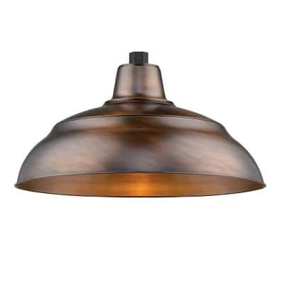 R Series 1-Light 18 in. Natural Copper Warehouse Shade