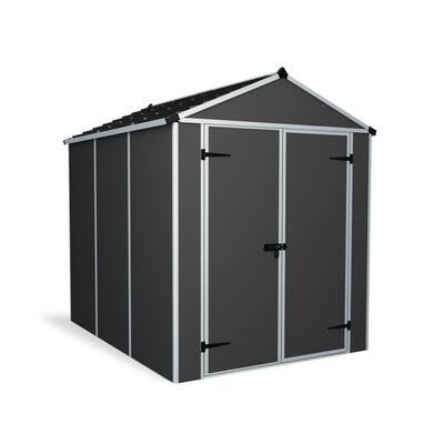 Rubicon 6 ft. x 8 ft. Dark Gray Storage Shed