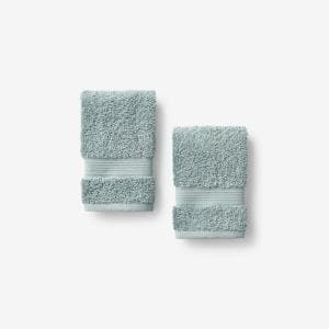 Legends Regal Spa Green Solid Egyptian Cotton Wash Cloth (Set of 2)