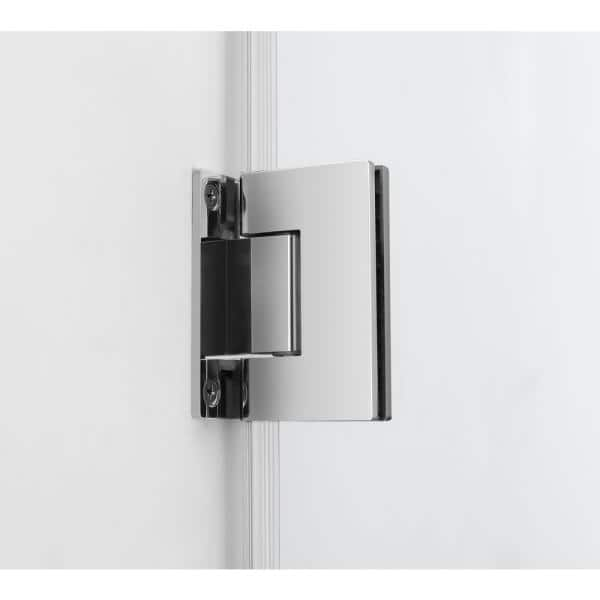 Aston Bromley Gs 56 25 To 57 25 X 38 375 X 72 In Frameless Corner Hinged Shower Enclosure W Glass Shelves In Chrome Sen962ez Ch 572538 10 The Home Depot