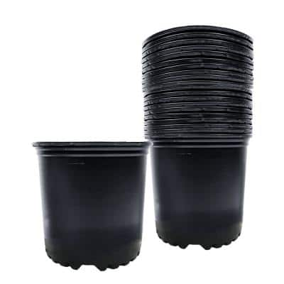 1 Gal. Black Plastic Nursery Pots (24-Pack)