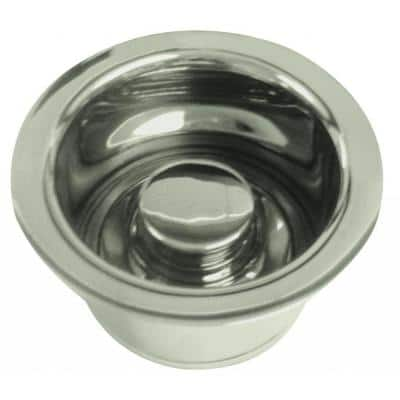 3-1/2 in. Dia Extra-Deep Disposal Flange and Stopper in Satin Nickel