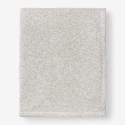 Sweatshirt Knit Beige Full/Queen Reversible Blanket