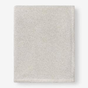 Sweatshirt Knit Beige King Reversible Blanket