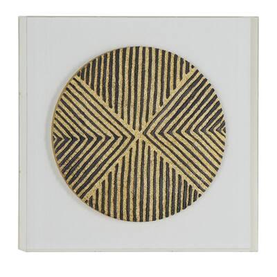 Metallic Gold Wood Shadow Box Wall Art, 24 in. x 24 in.