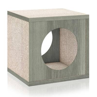 Eco zBoard Grey Stackable Cat Scratcher Cube