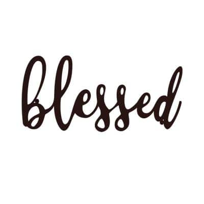 """""""Blessed"""" Metal Cutout Sign"""
