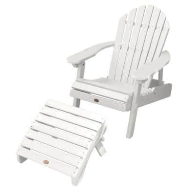 Hamilton White 2-Piece Plastic Patio Conversation Seating Set