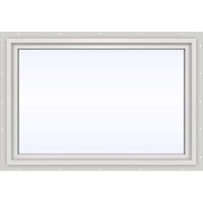 35.5 in. x 23.5 in. V-4500 Series White Vinyl Picture Window w/ Low-E 366 Glass
