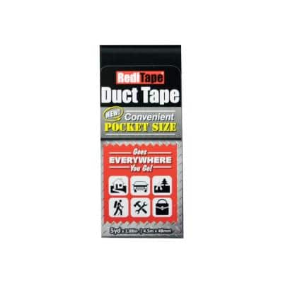 1-22/25 in. x 5 yds. RediTape Black All Purpose Duct Tape
