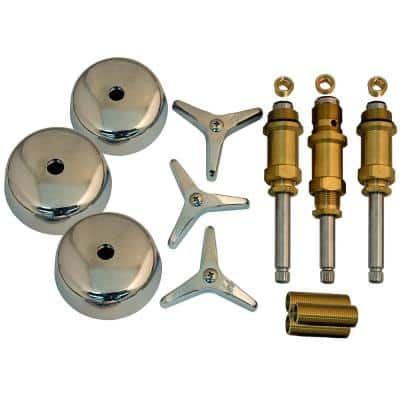 Tub and Shower Rebuild Kit for American Standard Tract Line 3-Handle Faucets