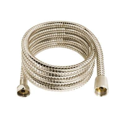72 in. (6 ft.) Premium Stainless Steel (SS304) Shower Hose with Brass Fittings and EPDM Inner Hose in Satin Nickel
