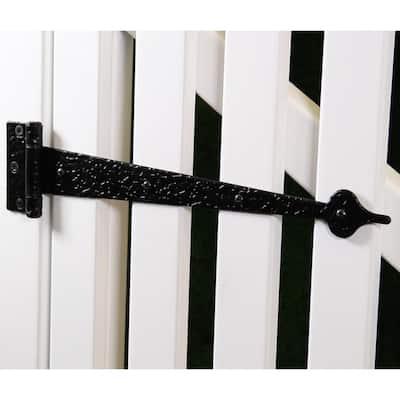 13 in. Black Decorative Tee Hinges (2-Pack)
