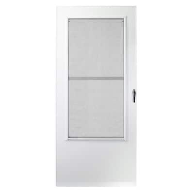 36 in. x 80 in. 200 Series White Universal Triple-Track Aluminum Storm Door