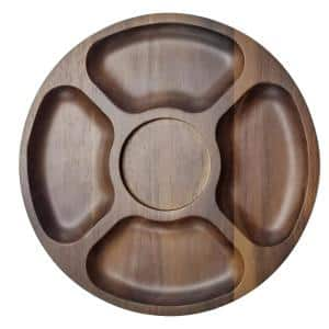 Acacia 13 in. x 13 in.  Brown Wooden Tray