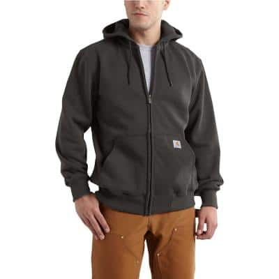 Men's Tall Extra Large Peat Cotton/Polyester Rain Defender Paxton Heavyweight Hooded Zip-Front Sweatshirt