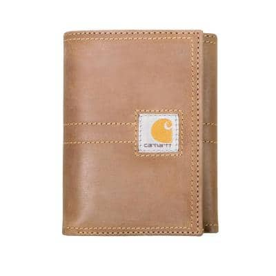 Mens Leather Brown Legacy Trifold Wallet