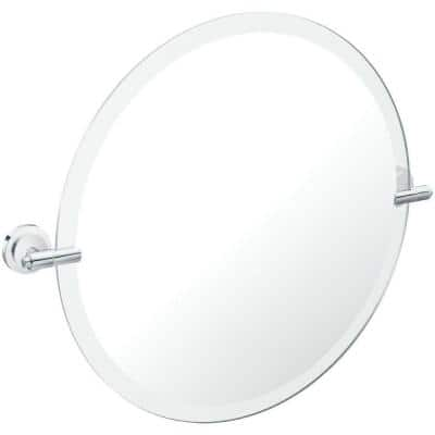 Iso 22 in. x 24 in. Frameless Pivoting Wall Mirror in Chrome