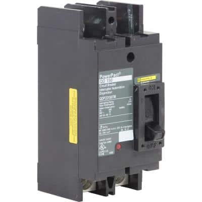 PowerPact 150 Amp 25kA 2-Pole Q-Frame Molded Case Circuit Breaker
