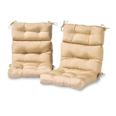Solid Stone Outdoor High Back Dining Chair Cushion (2-Pack)