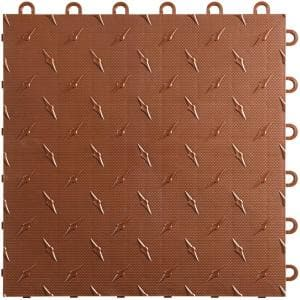 12 in. W x 12 in. L Chocolate Brown Diamondtrax Home Modular Polypropylene Flooring (10-Tile/Pack) (10 sq. ft.)