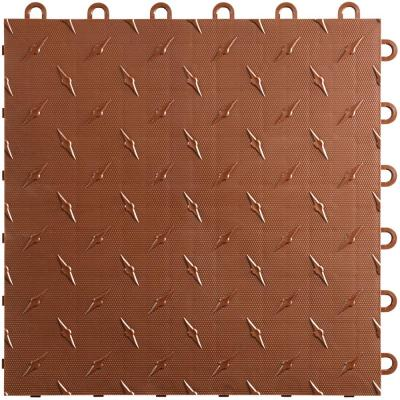 12 in. W x 12 in. L Chocolate Brown Diamondtrax Home Modular Polypropylene Flooring (50-Tile/Pack) (50 sq. ft.)
