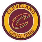 NBA Cleveland Cavaliers Burgundy 2 ft. x 2 ft. Round Area Rug