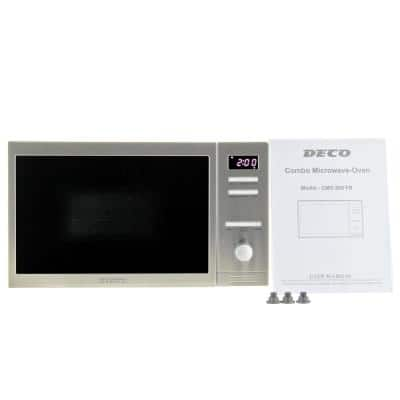0.8 cu. ft. Free Standing or Built-in Equator Compact Combo Microwave Oven in Stainless Steel