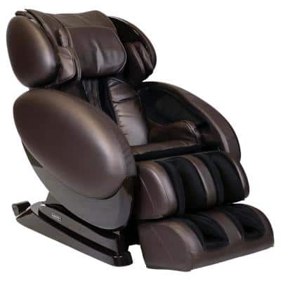 IT-8500 X3 Brown Deluxe 3D Massage Chair with Bluetooth Compatibility and Lumbar Heat