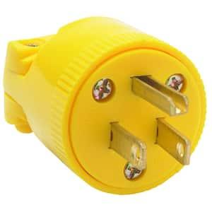 Pass & Seymour Medium Duty 15 Amp 125-Volt NEMA 5-15P Straight Blade Plug, Yellow