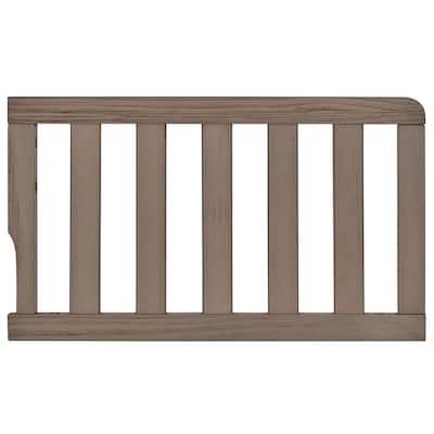 Universal Convertible Crib Oak Grey Toddler Guard Rail