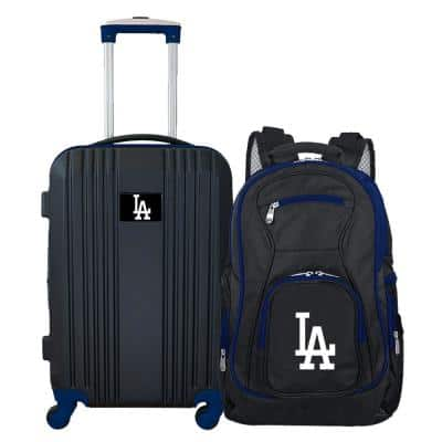 MLB Los Angeles Dodgers 2-Piece Set Luggage and Backpack