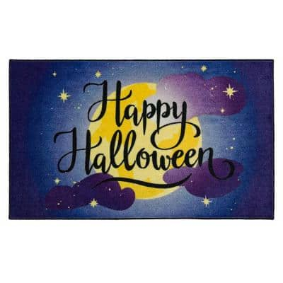 Halloween Moon Purple 2 ft. 6 in. x 4 ft. 2 in. Holiday Area Rug