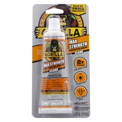 2.5 oz. Max Strength Construction Clear Adhesive