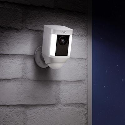 Spotlight Cam Battery Wireless Outdoor Bullet Surveillance Camera, White (3-pack)