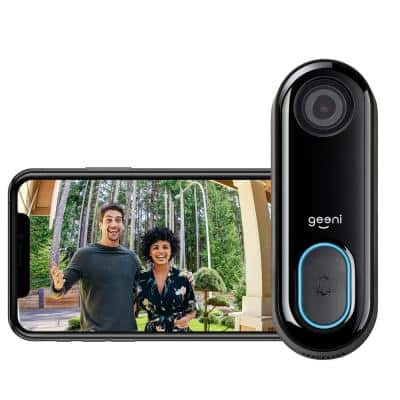 Wired 1080P HD Wi-Fi Video Wired Smart Door Bell Camera, Smart Home, Works with Alexa