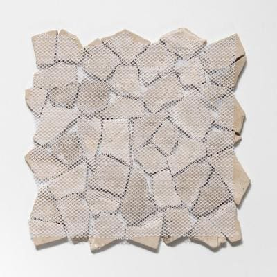 Fit Tile Tan 11-3/8 in. x 11-3/8 in. x 9.5 mm Indonesian Marble Mesh-Mounted Mosaic Tile (10.01 sq. ft. / case)