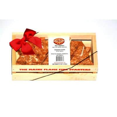 Cinnamon Scented Fire Starter Gift Crate (10-Pack)