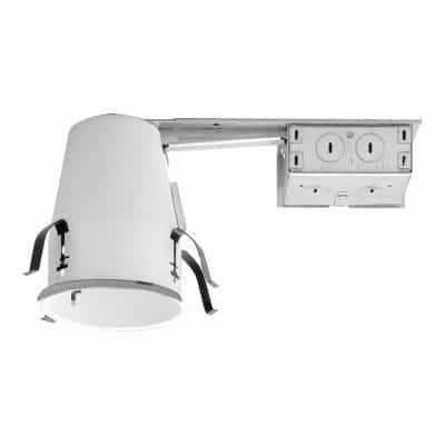 H99 4 in. Steel Recessed Lighting Housing for Remodel Ceiling, No Insulation Contact, Air-Tite (6-Pack)