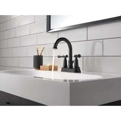 Chamberlain 4 in. Centerset 2-Handle Bathroom Faucet in Matte Black