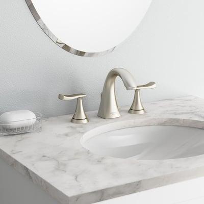 Chatfield 8 in. Widespread 2-Handle Bathroom Faucet in Brushed Nickel (Set of 2)