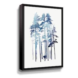 'Winter Wolf' by  Robert Farkas Framed Canvas Wall Art