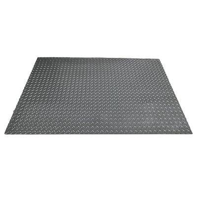 47 in. x 32 in. Polyvinyl Gas Grill Mat in Slate Grey