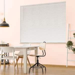 White Cordless Room Darkening 1 in. Vinyl Mini Blind for Window or Door - 65 in. W x 48 in. L