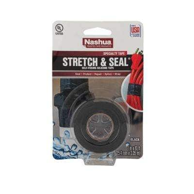 1 in. x 3.33 yd. Stretch and Seal Self-Fusing Silicone Tape in Black