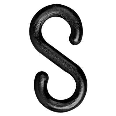 2 in. Black S-Hook (25-Pack)