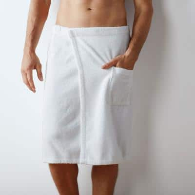 Legends Regal Egyptian Cotton Men's Small/Medium White Bath Wrap