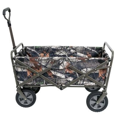 Collapsible Folding Outdoor Garden Utility Wagon Cart, Camouflage