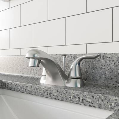 Ashland 4 in. Centerset 2-Handle Bathroom Faucet in Satin Nickel