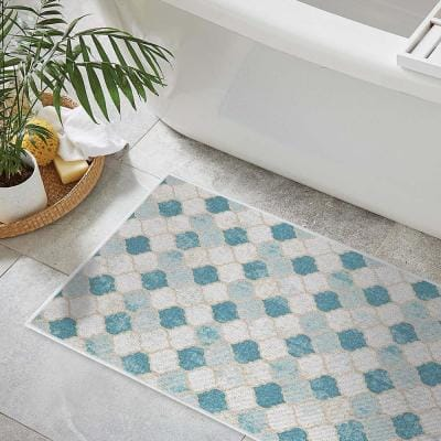 24 in. x 44 in. Washable Floor Mat for Laundry Room, Entryway, Bathroom and Kitchen